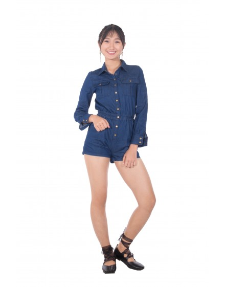 Denim short Jumpsuit