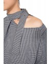 Hollow out stand collar shirt