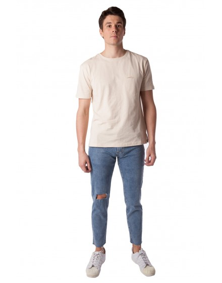 Cropped Damaged Jeans